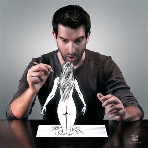photographer combines  art forms  achieve  sketch