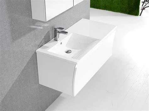 Bernstein Badmöbel Set 100cm Waschbecken Unterschrank Weiß