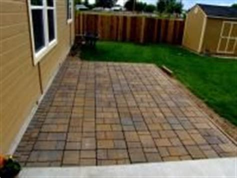 patio with the large pavers for the home