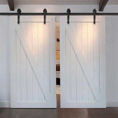 ft ft modern country style steel sliding barn door
