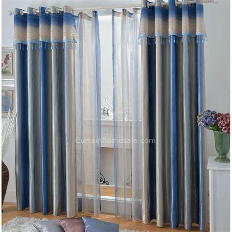 bleu 224 rayures opaques salon rideaux id 233 es pour salon