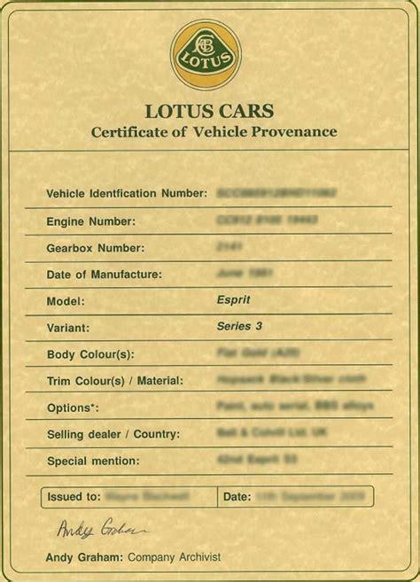 lotus certificate