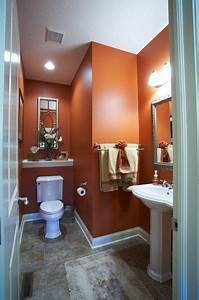 25 best ideas about orange bathrooms on pinterest With assorted bathroom color ideas bathroom