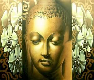 Buddha Face Painting by Prashanta Nayak