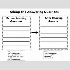 Asking And Answering Questions Graphic Organizer By Jennifer Mazzola