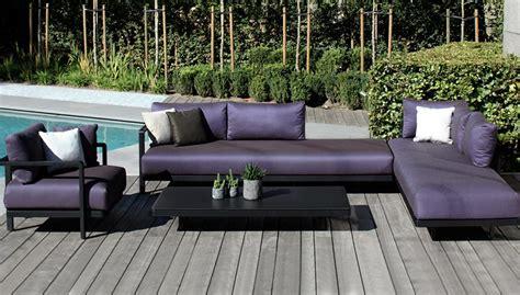 canapé pour terrasse salon de jardin canapé fauteuil bas et banquette