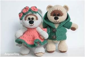Honey Teddy Bears in LOVE - Amigurumi Crochet Free