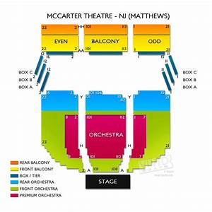 Mccarter Theatre Center Seating Chart