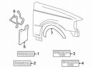 Mazda B3000 Mud Flap Kit  4wd  Set  W  Wheel Opng Mlgd  Wwheel  Exterior  Guard
