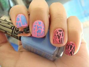 nail loopy CHINA GLAZE SHOCKING PINK NEON AND CRACKLE