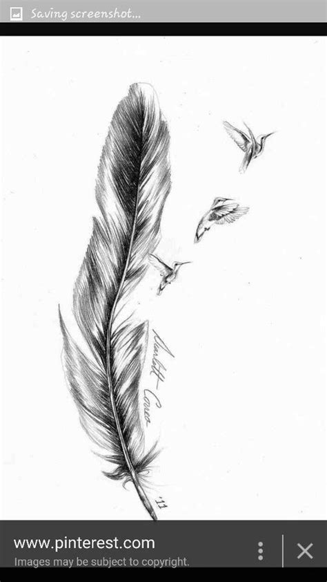 Pin by Cathy Varnry on Tattoo | Feather tattoo design, Feather with birds tattoo, Feather tattoo