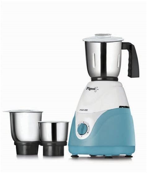 Pigeon Amaze Mixer Grinder  White & Blue Price in India