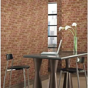 York Wallcoverings 57 sq. ft. Brick Wallpaper