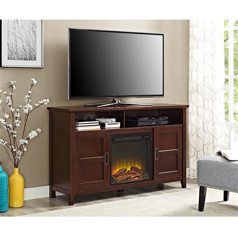 tv cabinet with fireplace walker edison furniture company rustic chic coffee 6412