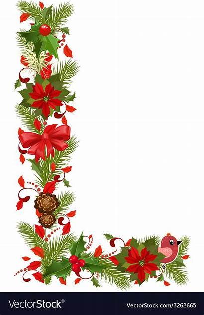 Letter Christmas Tree Vector Floral Royalty