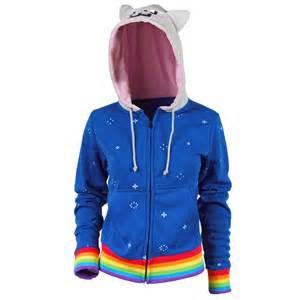 cat hoodie womens nyan cat hoodie blue