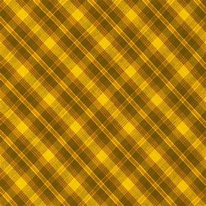 Yellow And Brown Diagonal Plaid Pattern Cloth Background