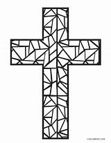 Coloring Cross Pages Easter Jesus Printable Colouring Stained Glass Mosaic Template Cool2bkids Crosses Getdrawings sketch template