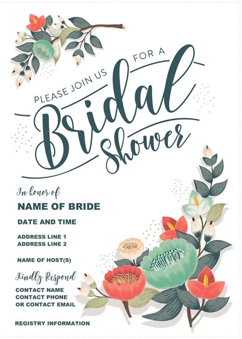 our gorgeous printable bridal shower invitation is totally