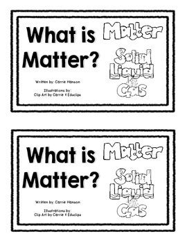 What is Matter? Mini Book (States of Matter/Water Cycle) | TpT