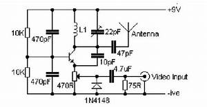 vhf video transmitter 60 200 mhz circuit diagram world With four channel continuous wave transmitter