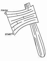Coloring Hatchet Maze Getdrawings sketch template