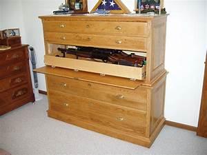 Gun Cabinet Concealed in Dresser StashVault
