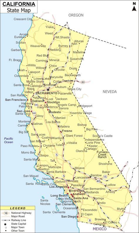 california map map  california state usa ca map