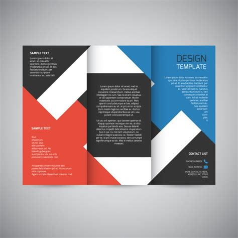 Graphic Design Brochure Templates by Trifold Brochure Design Vector Free