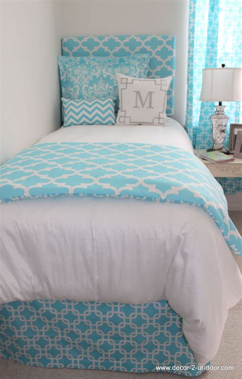 bright blue bedding perfect  home  dorm popular
