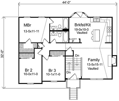 split level floor plan cozy split level home plan 22003sl architectural