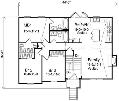 cozy split level home plan sl architectural
