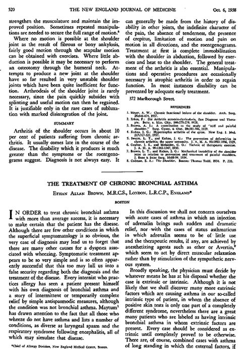 The Treatment of Chronic Bronchial Asthma | NEJM