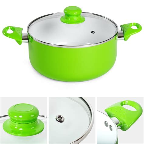 pcs cooking evenly press aluminum healthy ceramic coated