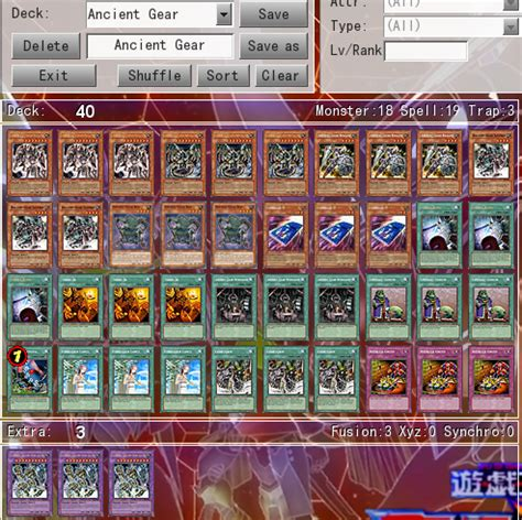 yugioh ancient gear deck profile ancient gear deck help pojo forums