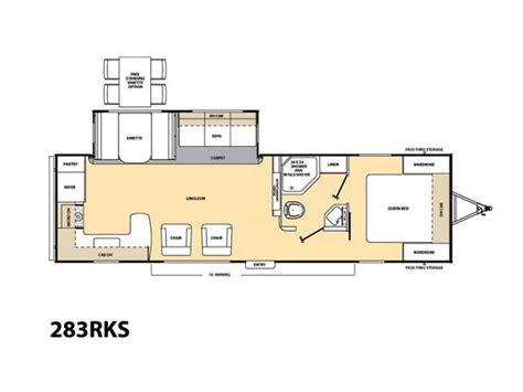 Travel Trailer Floor Plans Rear Kitchen by 2017 Forest River Coachmen 283rks Rear Kitchen