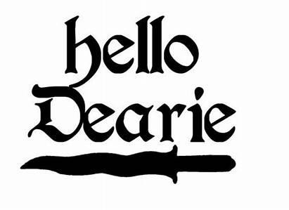 Rumplestiltskin Hello Dearie Sticker
