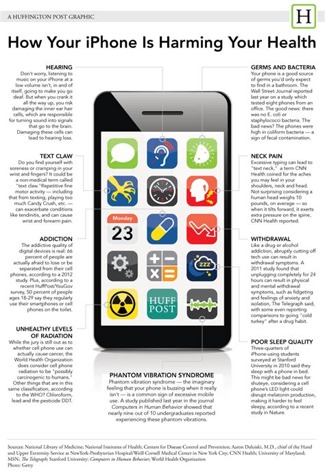 what is an iphone how your iphone is harming your health infographic