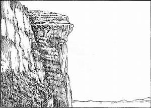 Cliff Side Drawing