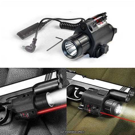 glock tactical laser and light 2in1 tactical cree led flashlight light red laser sight