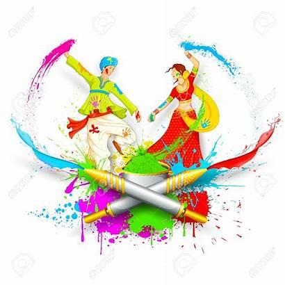 Holi Clipart Festival Pichkari Playing Vector Couple