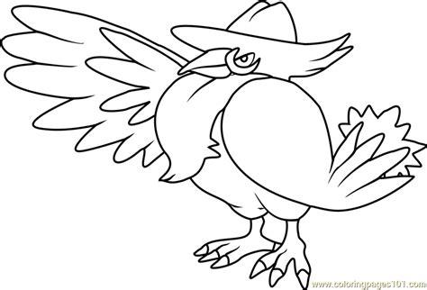 honchkrow pokemon coloring page  kids  pokemon