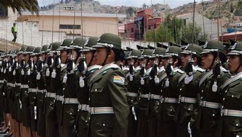 bolivian military officers graduate  anti imperial
