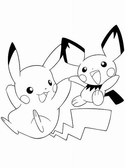Pokemon Coloring Pages Colour Previous Series Pikachu
