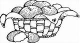 Sourdough Coloring Drawing Clipart Variations Many Simple Basket Bread Clip sketch template