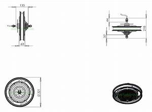 16 Inch 48v 1000w Rear Hub Motor