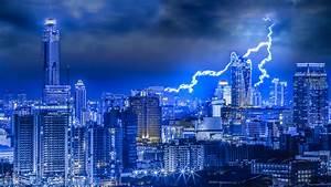 Images Bangkok Thailand Lightning night time Skyscrapers ...