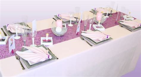 d 233 coration de table communion prune et argent d 233 corations f 234 tes