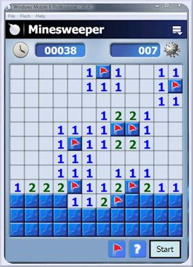 minesweeper game   windows mobile device