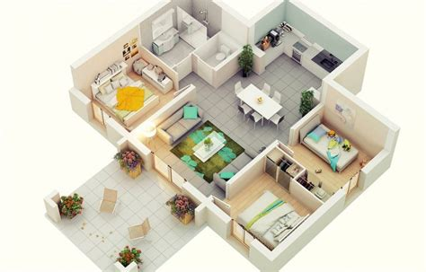 3 Bedroom Floor Plan In 3d by Design Your Future Home With 3 Bedroom 3d Floor Plans
